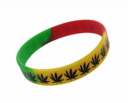 Gummiarmband Rastafari Cannabis