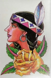 Indianer Frau Tattoo