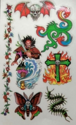Totenkopf mit Flügeln Tattoo