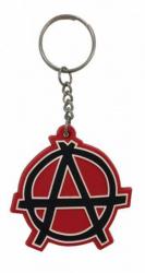 Gummi Schlüsselanhänger Anarchie Rot