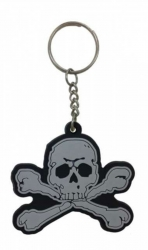 Gummi Schlüsselanhänger Piratentotenkopf