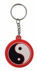 Gummi Schlüsselanhänger Yin Yang Rot