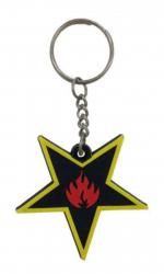 Gummi Schlüsselanhänger Stern & Flammen
