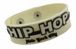 Gummiarmband Weiß Hip Hop