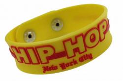 Gummiarmband Gelb Hip Hop