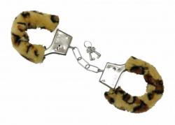Plüsch Handschellen Leopard