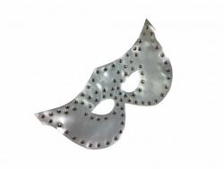 Silberfarbene Fetisch Augenmaske