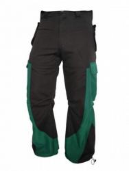 Coole Techno Hose in schwarz mit grünen Taschen