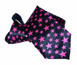 Pinke Sterne Krawatte mit Reißverschluss