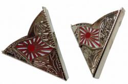 Silberfarbene Kyokujitsuki Kragenecken