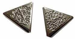Kragenecken klein in Silberfarben und Ornamente Stil