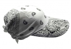 Fitted Bandana in White with Sun Visor