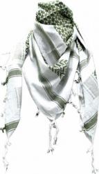Arafat Schal - Weiss Olivgrün
