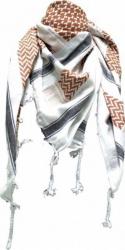 Arafat Schal - Weiss Braun Schwarz