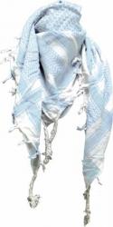 Original Palästinenser Tuch - Weiß Hellblau