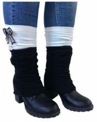 Leg warmers - Black White