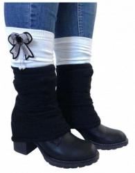 Beinstulpen - Schwarz Weiß