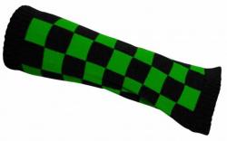Schwarz Grün karierte Armstulpen