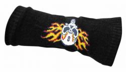 Totenkopf in Flammen Armstulpen