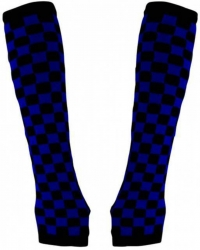Armstulpen mit schwarz blauem Schachbrettmuster