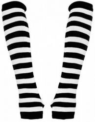 Armstulpen mit schwarz weißen Streifen