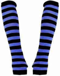 Armstulpen mit schwarz blauen Streifen