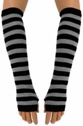 Armstulpen mit schwarz grauen Streifen
