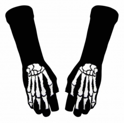 Fingerlose Armstulpen - Skeletthand