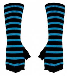 Stulpen Handschuhe - Blau Gestreift