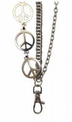 3-reihige Hosenkette mit Peace Zeichen