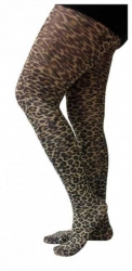Tights with Leopard Design
