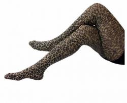 Strumpfhose mit Leoparden Design