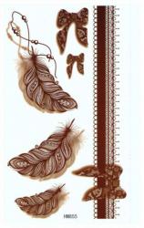 Tattoo Aufklebe Sticker Braun