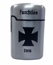 Iron Cross Windproof Lighter silver
