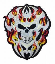 Aufnäher Totenkopf in Flammen