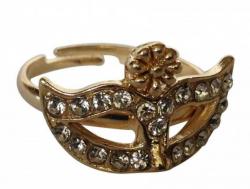 Ring mit venezianischer Maske