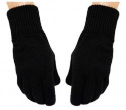 Schwarze Handschuhe Uni