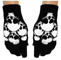 Schwarze Handschuhe Totenkopf Schwarm
