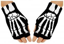 Fingerlose Skelett Handschuhe für Teens