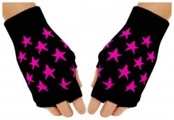 Fingerlose Handschuhe Pinke Sterne für Teens