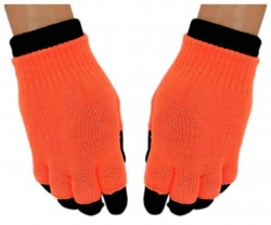 2 in 1 Handschuhe Orange für Teens