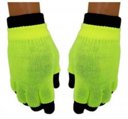 2 in 1 Handschuhe Gelb