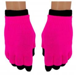 2 in 1 Handschuhe Pink