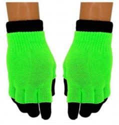 2 in 1 Handschuhe Grün für Teens