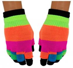 2 in 1 Handschuhe Regenbogen für Teens