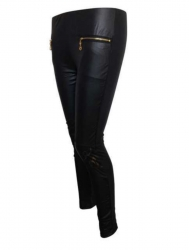 Schwarze Party Leggings
