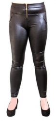 Leder Look Leggings