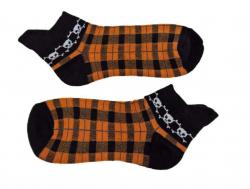 Sneakersocken - Orange Totenkopf