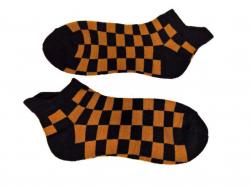 Sneakersocken - Orange Karomuster