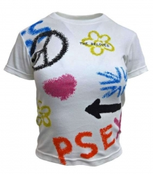 Weißes Girlie Top Peace